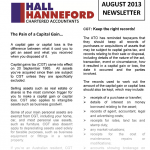 Image of August 2013 Newsletter